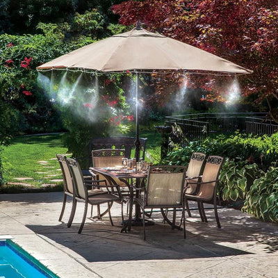 Easy Installation - Outdoor Misting Cooling System for Patio Greenhouse Gazebo Waterpark