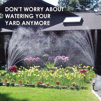 Garden Sprinkler, Rotating Lawn Sprinkler, Large Area Coverage Water Sprinklers for Lawns and Gardens