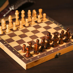 Family Game Wooden Chess Board