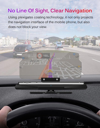 Wireless Charger Head-up Display For Any Car