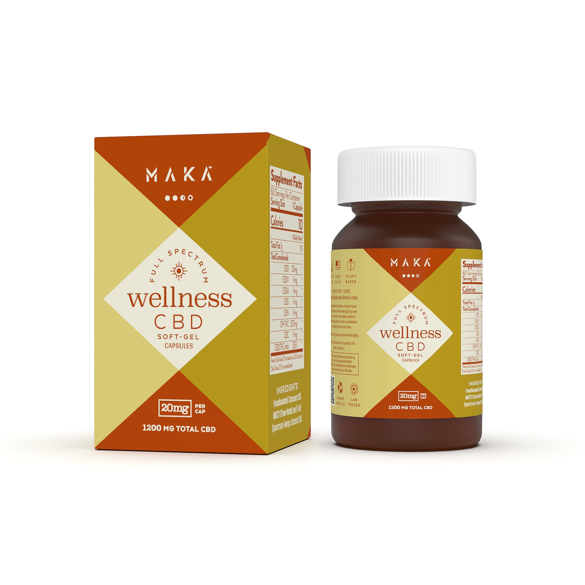 Daily Wellness Soft Gel Capsules - 20mg, 60ct