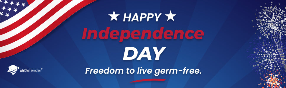 airDefender  USA Freedom Of Protection. Freedom To Live Germ-Free Promo