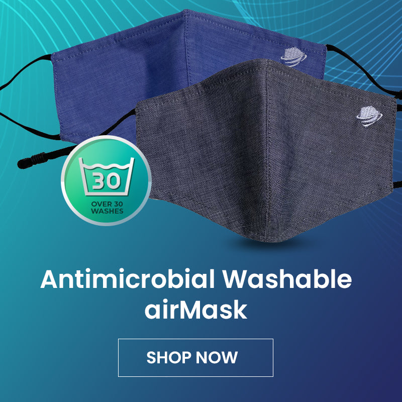 airDefender USA Premium Antimicrobial Washable airMask Face Mask