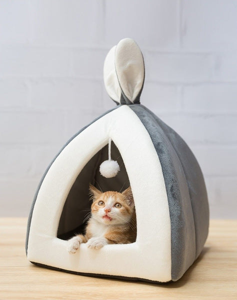 Bunny Ears Cat Bed House