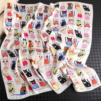 Square Cat Scarf for Women