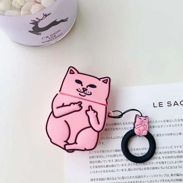 Funny Cat Case Cover for AirPods 2