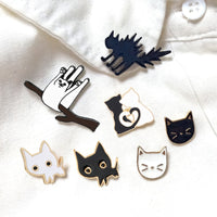 Cartoon Cat Enamel Pins