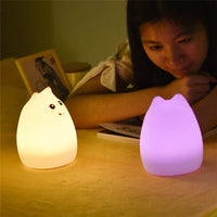 USB Rechargeable LED Cat Night Lights