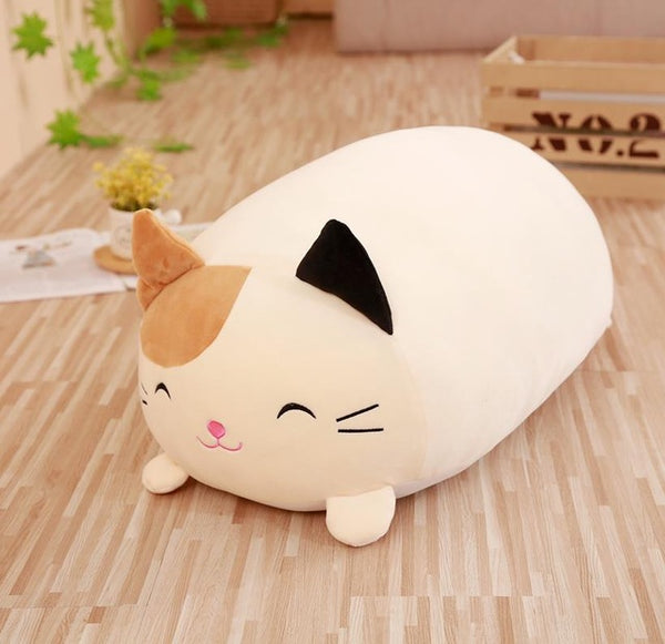 Soft Stuffed Cat Pillow