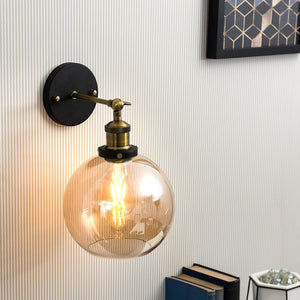 Glass ball Wall Light
