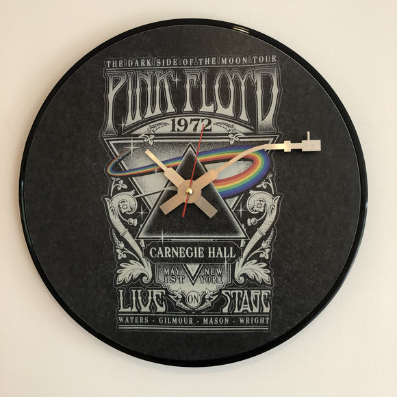 Pink Floyd (Carnegie Hall) Vinyl Clock - The Musicstore UK