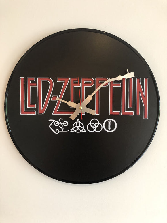 Led Zeppelin - (Logo & Symbols) Vinyl Clock - The Musicstore UK