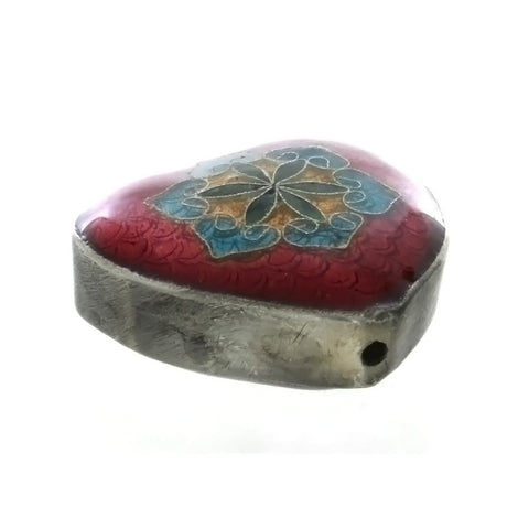 CLOISONNE HEART 6 X 14 X 32 MM LOOSE