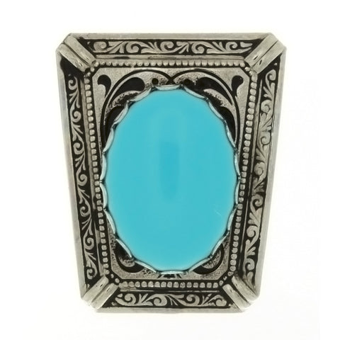 SLIDE GEMSTONE TURQUOISE LADDER 18 X 25 MM BOLO