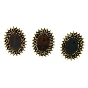 SLIDE GEMSTONE FRAMED STUD 13 X 18 MM BOLO