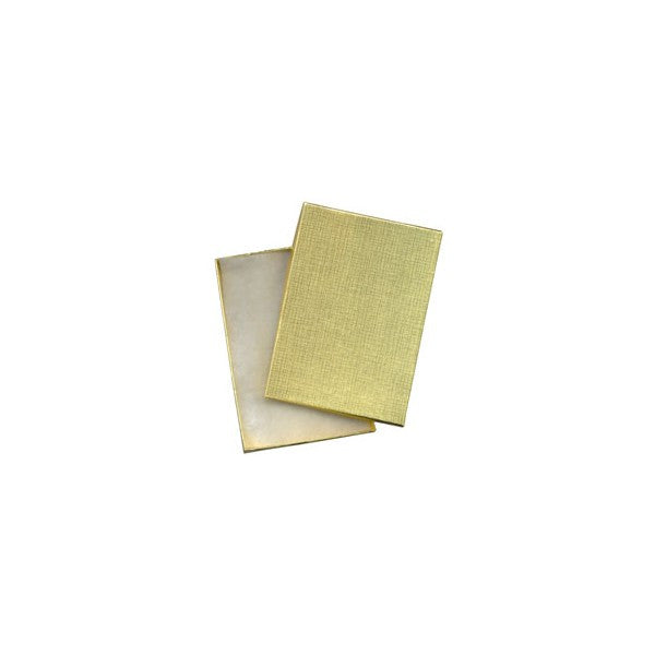"GOLD FOIL BOX 5 1/4 x 3 3/4 x 7/8""  (12 PCS)"