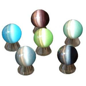 SPHERE GLASS DALE STONE (FIBER OPTIC) 40 MM (W/ STAND)