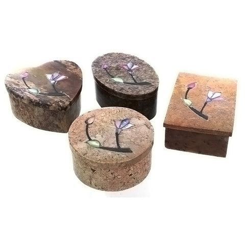 DECOR BOX SOAPSTONE SMALL NOVELTY (4)