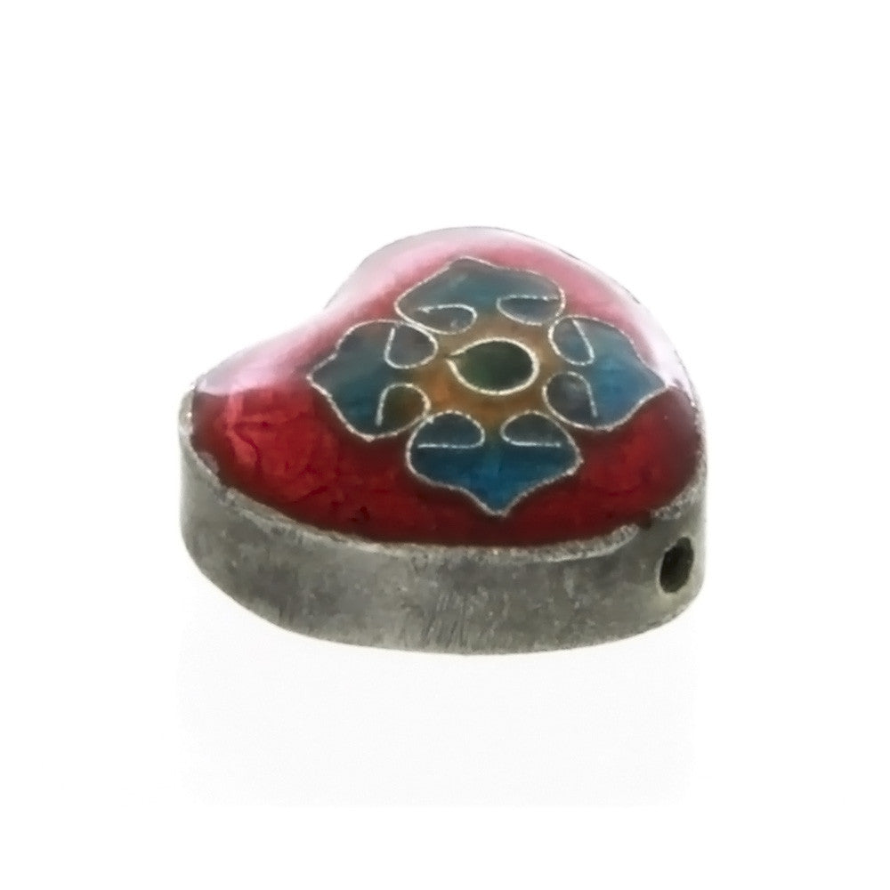 CLOISONNE HEART 8 X 16 MM LOOSE (5 PC)