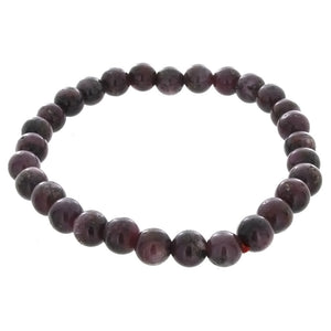STRETCH GEMSTONE RUBY STAR ROUND BRACELET