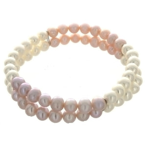 STRETCH FRESHWATER PEARL POTATO BRACELET