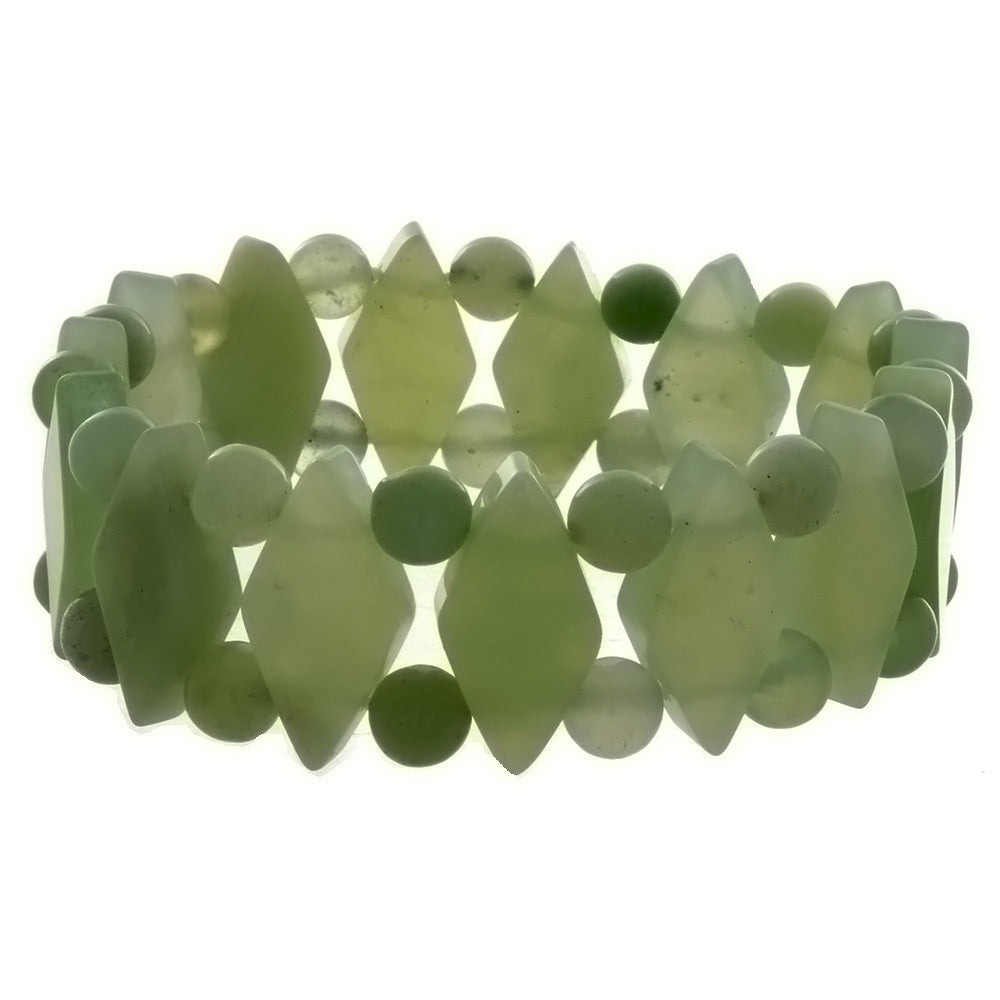 STRETCH GEMSTONE NEW JADE PRINCESS BRACELET
