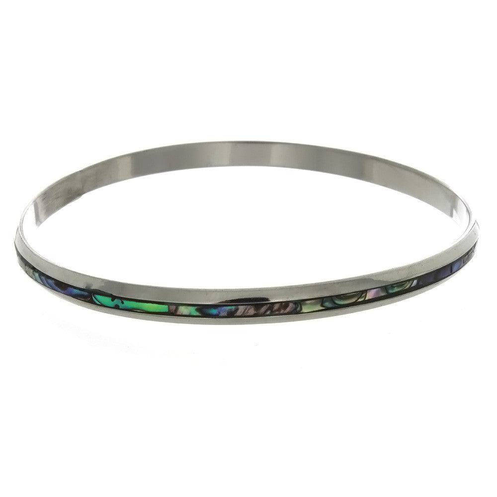 BANGLE ABALONE INLAY BRACELET