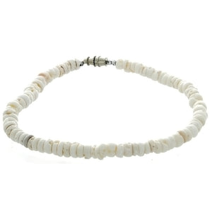 BEADED PUKA SHELL CHIP ANKLET