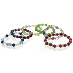 STRETCH CRYSTAL FACETED BRACELET (6)