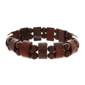 STRETCH GEMSTONE POPPY JASPER TANKER BRACELET