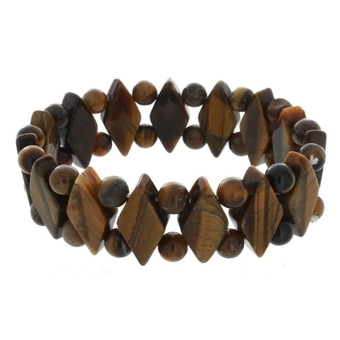 STRETCH GEMSTONE TIGER'S EYE PRINCESS BRACELET
