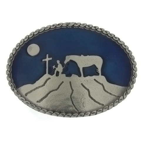BUCKLE THEMED COWBOY AT THE CROSS
