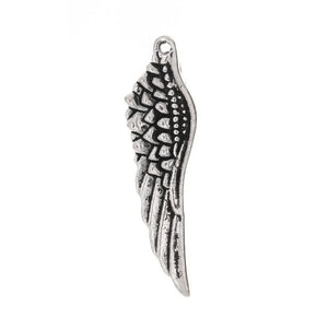 NATURE WING 15 X 28 MM PEWTER CHARM