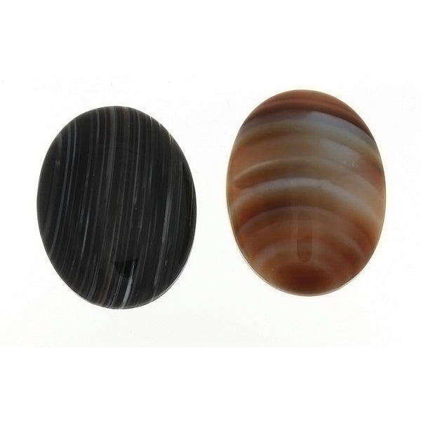 GEMSTONE SARDONYX BROWN CABOCHONS
