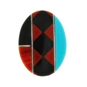 MOSAIC NUMBER 6 CABOCHONS