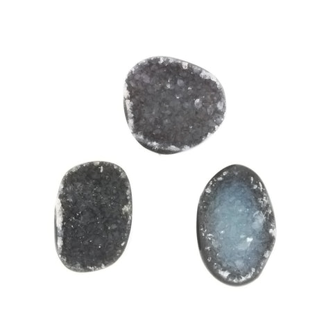 FREEFORM GEMSTONE DRUZY BLACK CABOCHONS