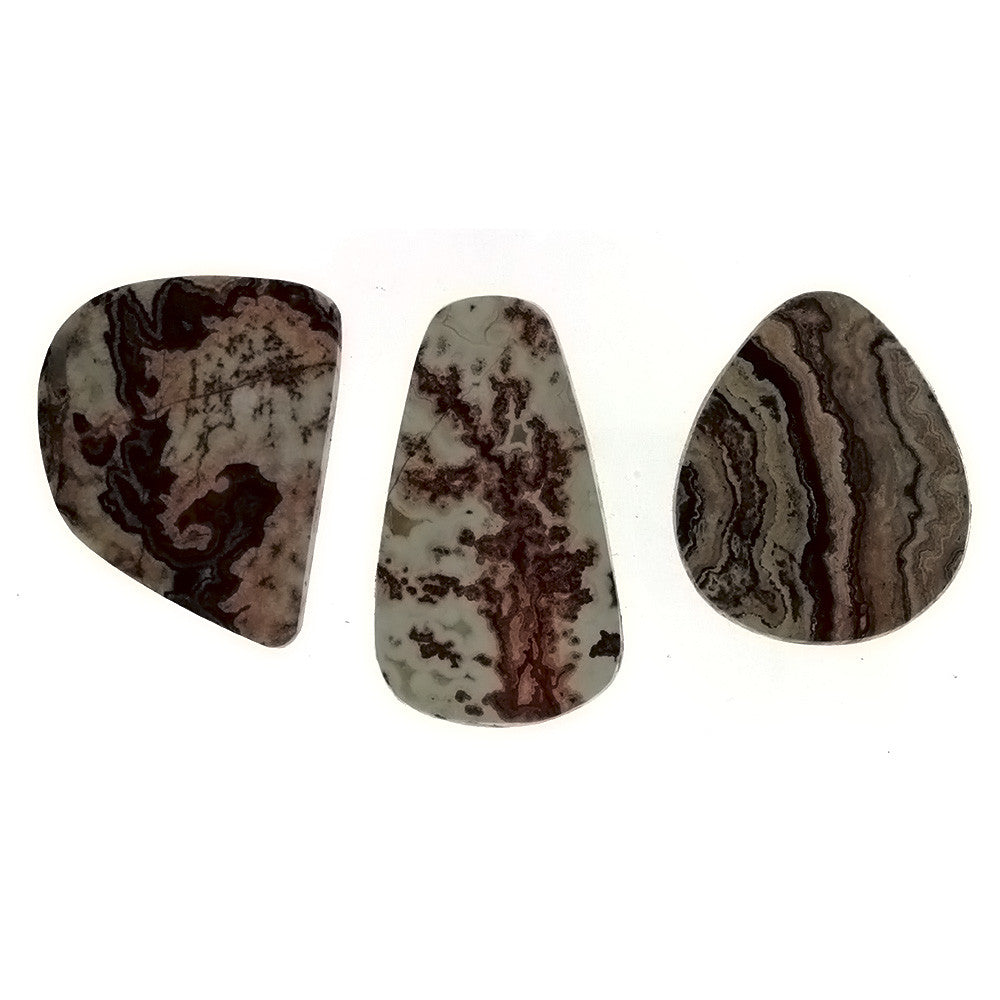 FREEFORM GEMSTONE AGATE MEXICAN LACE CABOCHONS