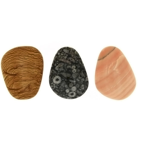 FREEFORM GEMSTONE VARIOUS CABOCHONS (10)