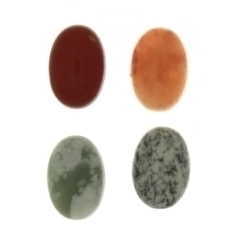 GEMSTONE VARIOUS OVAL CABOCHONS (12)
