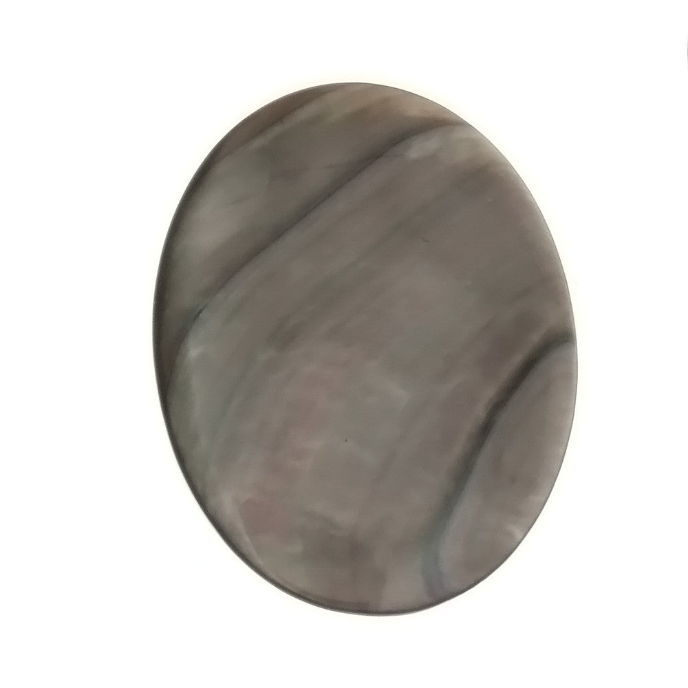 NATURAL MOTHER OF PEARL BLACK CABOCHONS