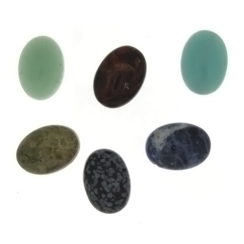 GEMSTONE VARIOUS OVAL CABOCHONS (25)
