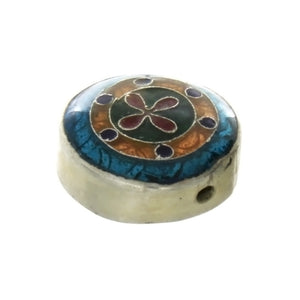 CLOISONNE COIN CROSS 8 X 15 MM LOOSE (5 PC)