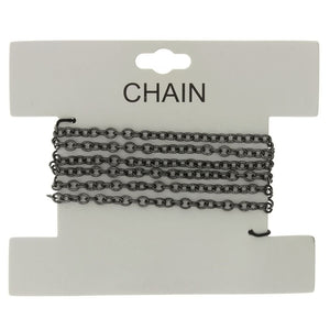 CHAIN NO-CLASP CABLE GUNMETAL 3 MM X 1 YD
