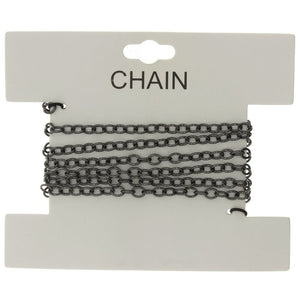 CHAIN NO-CLASP CABLE GUNMETAL 4 MM X 1 YD