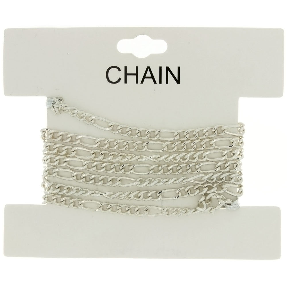 CHAIN NO-CLASP FIGARO SILVER 4 MM X 1 YD