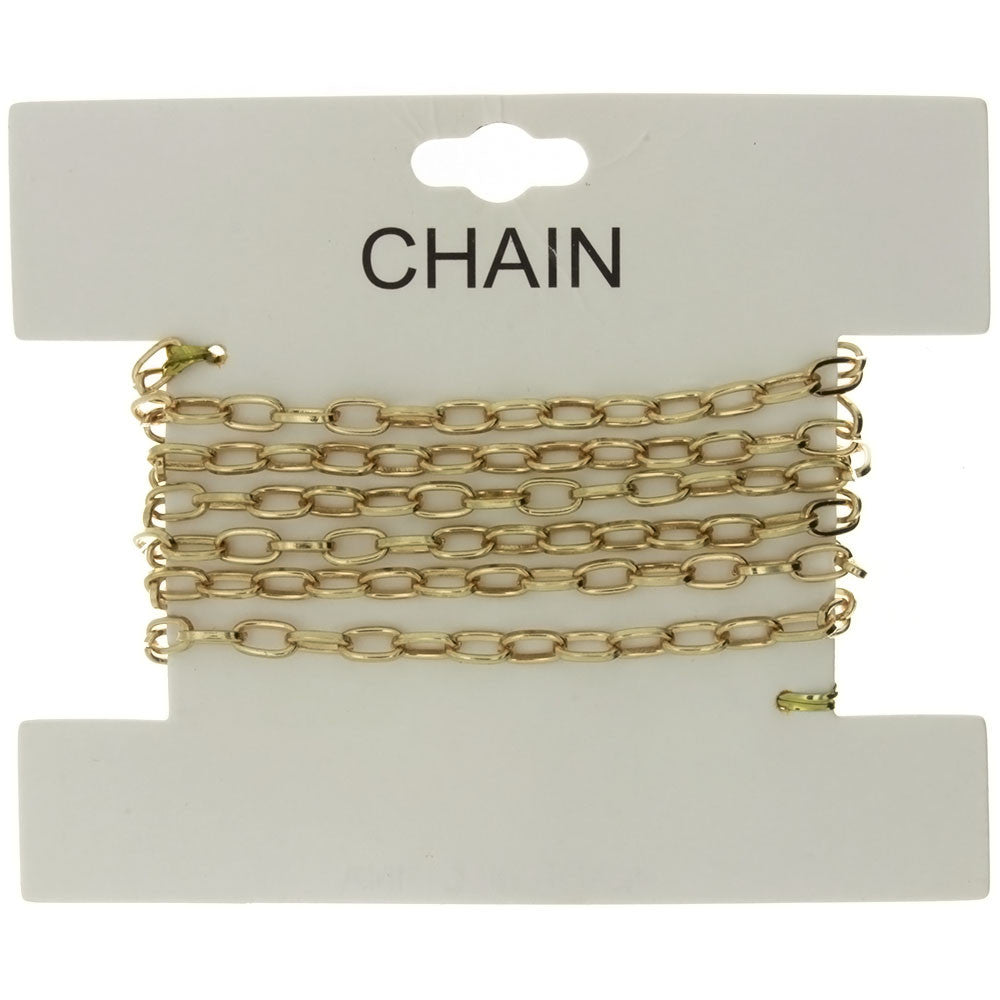 CHAIN NO-CLASP CABLE GOLD 4 MM X 1 YD