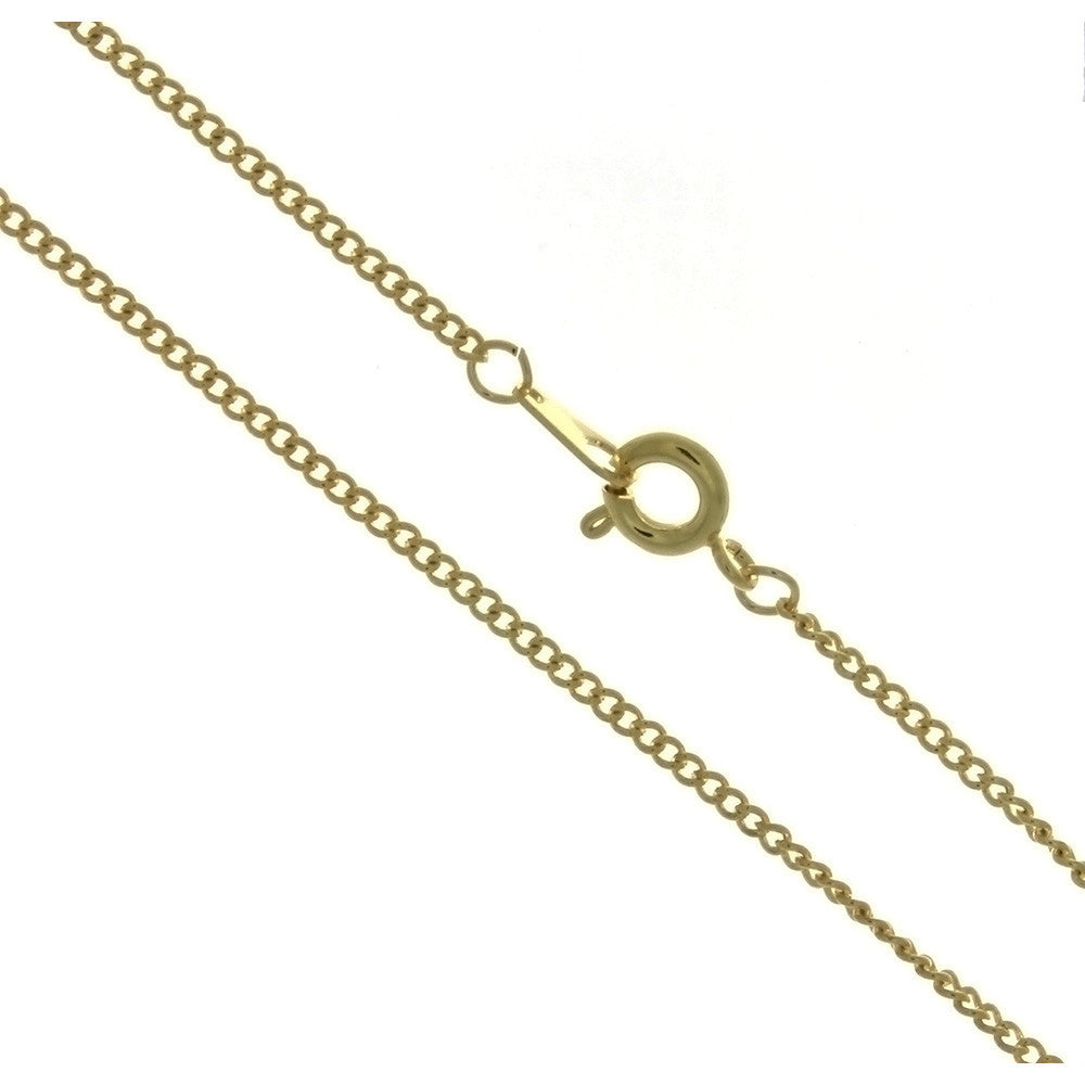 CHAIN NECKLACE CURB GOLD 1.6 MM X 18 IN (DOZ)