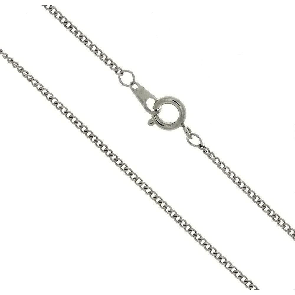 CHAIN NECKLACE CURB SILVER 1.6 MM X 18 IN (DOZ)