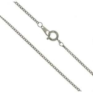 CHAIN NECKLACE CURB SILVER 1.6 MM X 16 IN (DOZ)