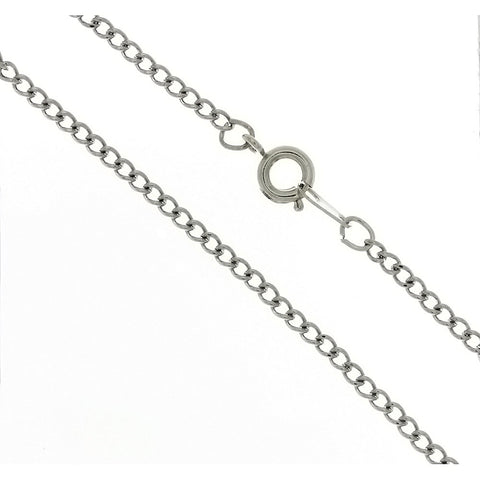 CHAIN NECKLACE CURB STAINLESS STEEL 2.3 MM X 18 IN (DOZ)